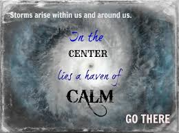 stay calm in storm
